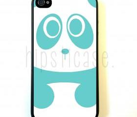 Baby Panda Bear Teal iPhone 5 Case - For iPhone 5/5G - Designer TPU Case Verizon AT&T Sprint