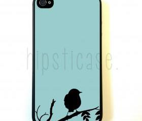 Bird On Teal iPhone 5 Case - For iPhone 5/5G - Designer TPU Case Verizon AT&T Sprint