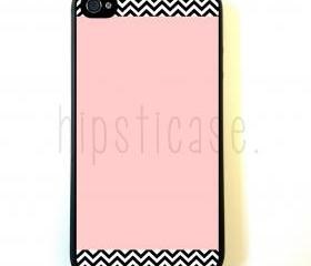 Chevron Pattern On Pink iPhone 5 Case - For iPhone 5/5G - Designer TPU Case Verizon AT&T Sprint
