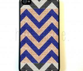 Fabric Chevron iPhone 5 Case - For iPhone 5/5G - Designer TPU Case Verizon AT&T Sprint
