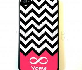 Forever Young Chevron iPhone 5 Case - For iPhone 5/5G - Designer TPU Case Verizon AT&T Sprint