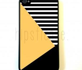 Geometric Print Yellow Block iPhone 5 Case - For iPhone 5/5G - Designer TPU Case Verizon AT&T Sprint