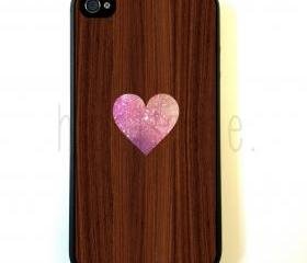 Heart On Wood iPhone 5 Case - For iPhone 5/5G - Designer TPU Case Verizon AT&T Sprint