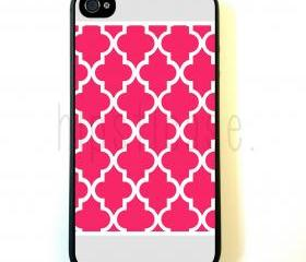 Hot Pink Ornate Border iPhone 5 Case - For iPhone 5/5G - Designer TPU Case Verizon AT&T Sprint