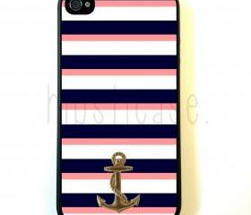 Anchor Stripes iPhone 5 Case - For iPhone 5/5G - Designer TPU Case Verizon AT&T Sprint